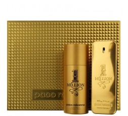 Paco Rabanne 1 Million Gift Set 100ml EDT and 150ml Deo