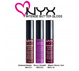 NYX Butter Gloss Oatmeal Raisin, Berry Strudel, Black Cherry Tart – Set 04