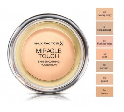 NEW Max Factor Miracle Touch Foundation with SPF 30 and Acid