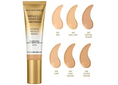 Max Factor Miracle Second Skin Hydrating Foundation