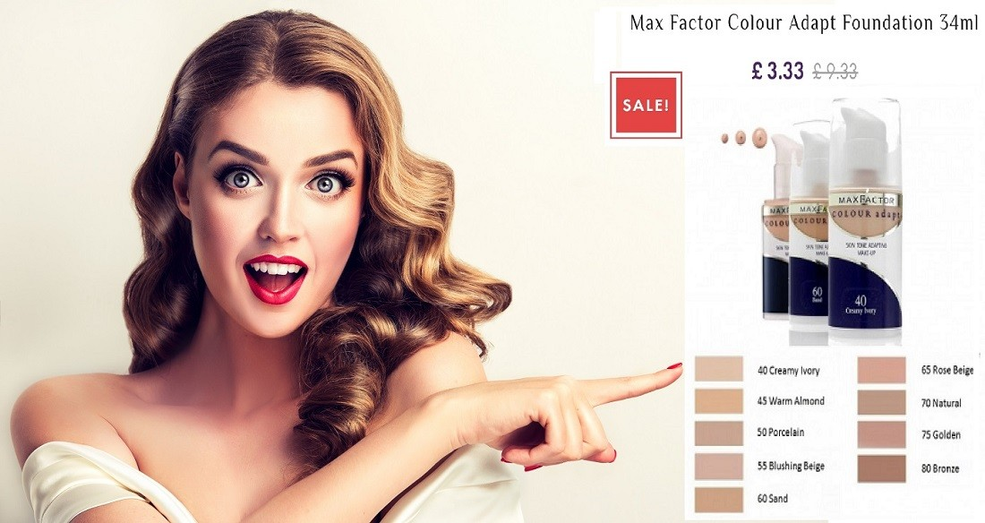 MAX FACTOR COLOUR ADAPT FOUNDATION 34ML